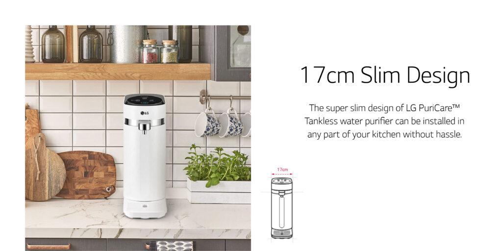 drinking water filter machine in kitchen