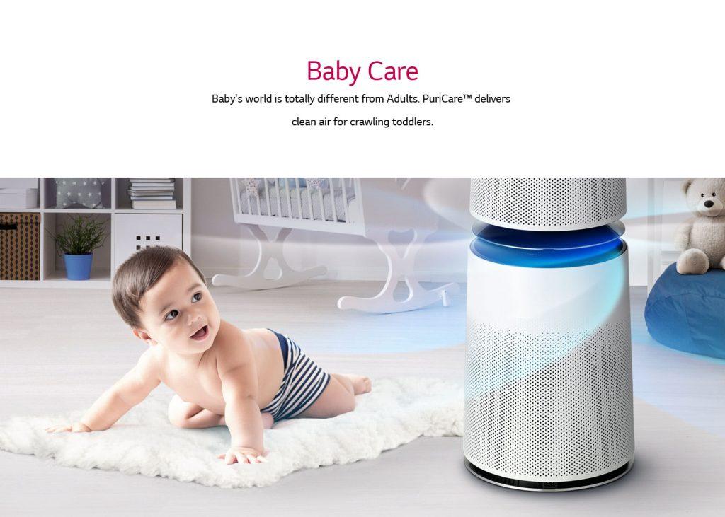 Lg Air Purifier Generate Clean Air for Baby