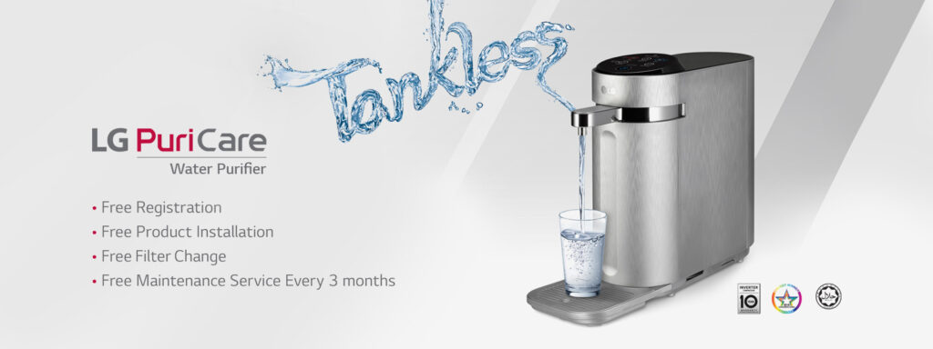 lg puricare water purifier malaysia provides clean drinking water