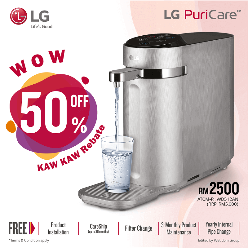 Lg water filter, Lg water purifier, lg water filter system, lg water filter raya promotion