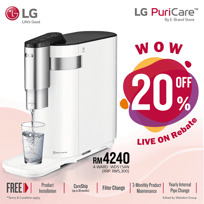 lg water puricare, lg puricare malaysia rental, lg water purifier price, lg puricare water, lg puricare agent, Lee Zii Jia Promotion