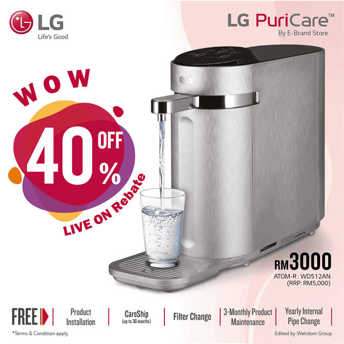 Lg water filter, Lg water purifier, lg water filter system, lg water filter Lee Zii Jia promotion