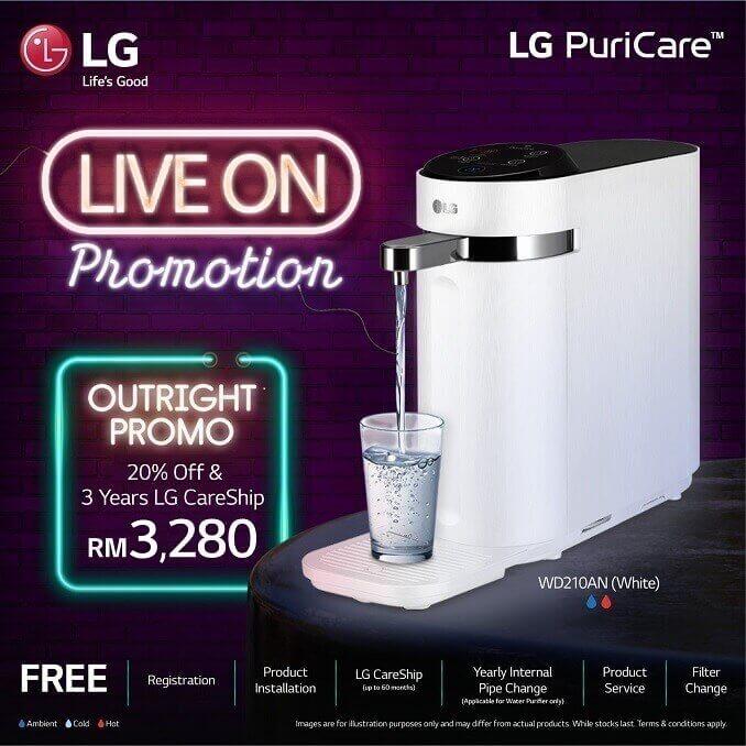 lg puricare tankless water purifier, lg puricare promotion, lg puricare water purifier, Lee Zii Jia LG Puricare Promo